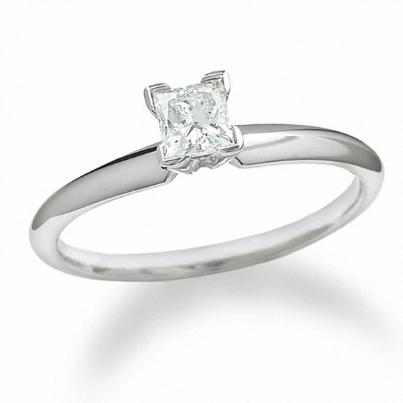 3 8 CT Princess Cut Diamond Solitaire Engagement Ring in 14K