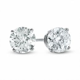 2 CT. T.W. Diamond Solitaire Stud Earrings in 14K White Gold