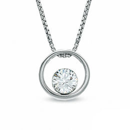 1/4 CT. Certified Canadian Diamond Solitaire Pendant in 14K White Gold (I/I2) - 17""