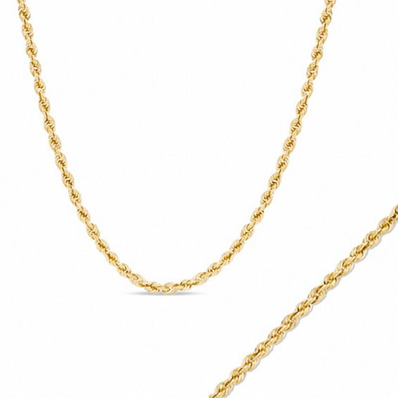 Mens 14K Gold 023 Gauge Rope Chain Necklace and Bracelet Set View