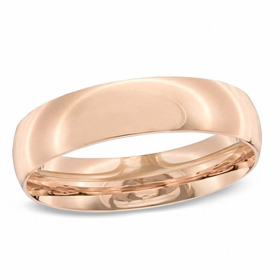 Zales Mens 4.0mm Wedding Band in 10K Rose Gold RItDlDhwMJ