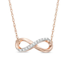 Diamond Accent Infinity Necklace in 10K Rose Gold