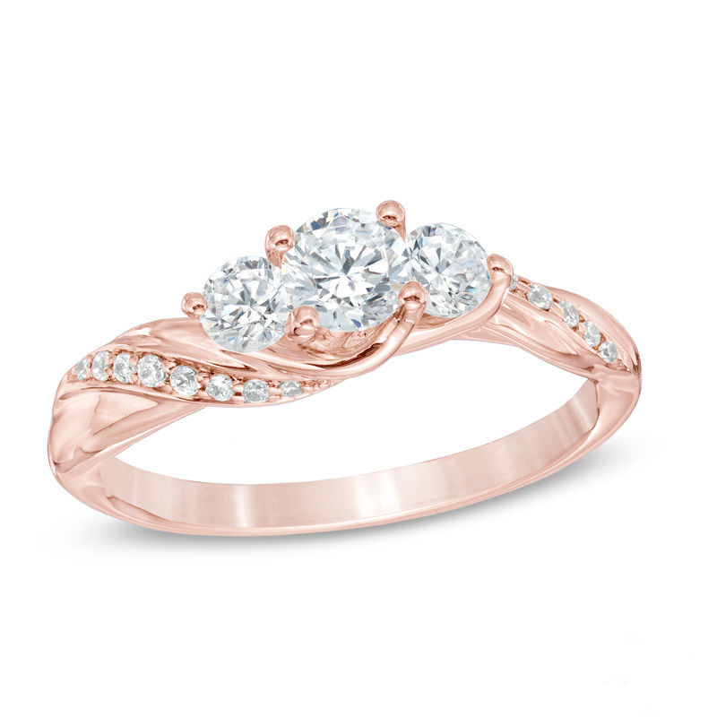 ring elegant ct rings rose gold wedding diamond oval engagement of carat