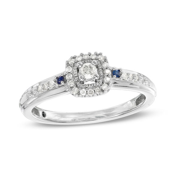 v ring p labcreated lab silver created sterling accent in promise rings sapphire diamond white and
