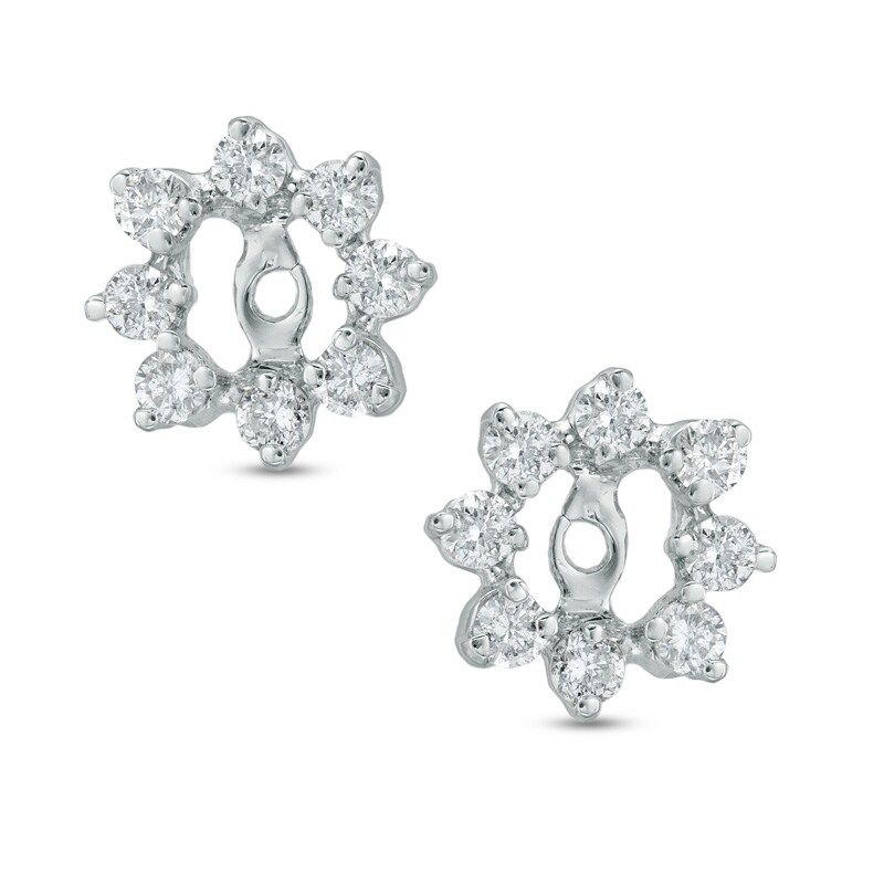 1 2 Ct T W Diamond Starburst Earring Jackets In 14k White Gold Zales Outlet