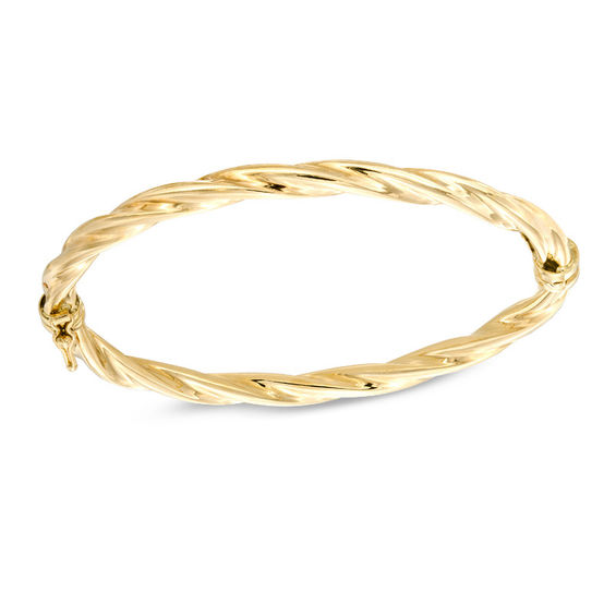 semi yellow miami brc cuban box hollow bracelet inches clasp gold
