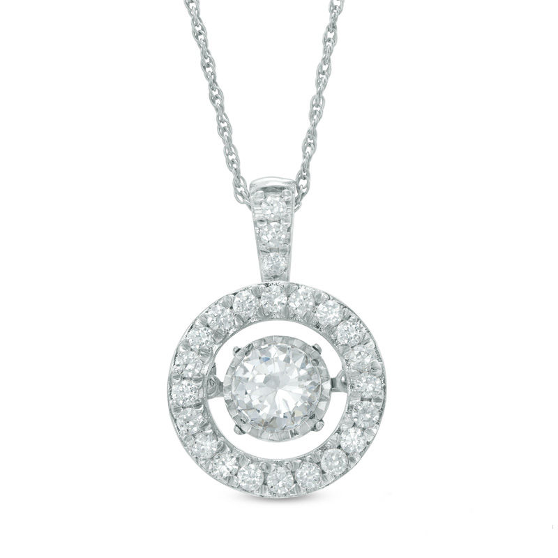 Zales 1/6 CT. T.w. Composite Diamond Filigree Vintage-Style Necklace in Sterling Silver x5p0CZXT8