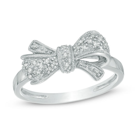 sterling ring silver bow rings