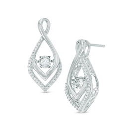 Unstoppable Love™ 1/4 CT. T.W. Diamond Infinity-Style Drop Earrings in 10K White Gold