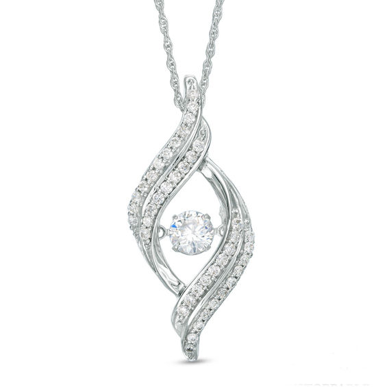 d8000a08c16 Unstoppable Love™ 3 4 CT. T.W. Diamond Open Flame Pendant in 10K White Gold