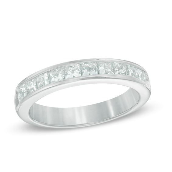 p gold diamond five bands v cut w stone princesscut in white tw band princess t ct anniversary