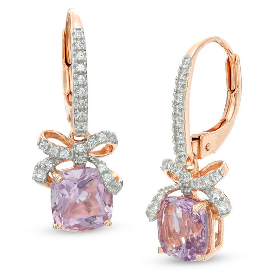 nova product center france stud de satya super rose amethyst earrings