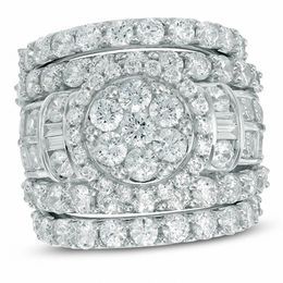 6 CT. T.W. Composite Diamond Three Piece Bridal Set in 14K White Gold