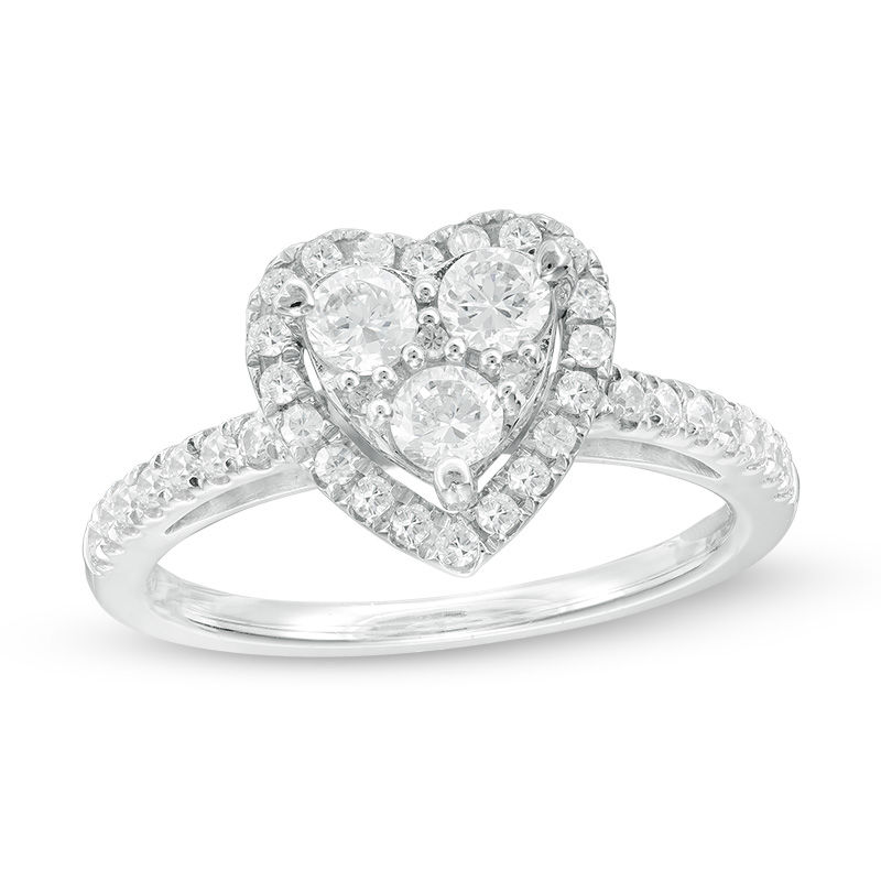 frame w tw composite ring white gold p v heart diamond t ct in engagement