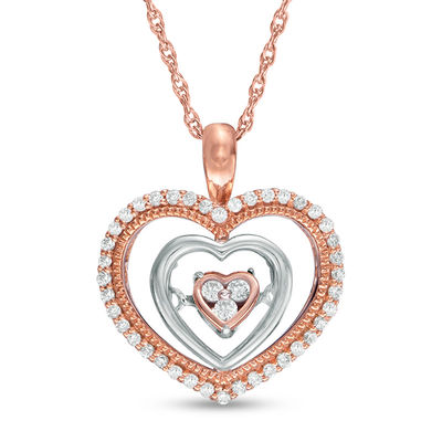b788d2fee94 ... Unstoppable Love™ 1 6 CT. T.W. Composite Diamond Triple Heart Pendant  in 10K