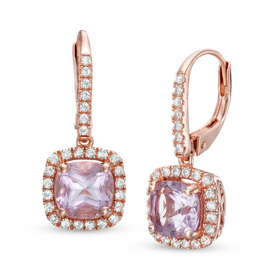 of drop these dynamite de a total karat jewelry gold id and ct france earrings square feature cushion rose amethyst pink sapphire j cut furst master