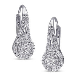 1/4 CT. T.W. Composite Diamond Vintage-Style Drop Earrings in Sterling Silver