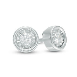 1/10 CT. T.W. Diamond Solitaire Stud Earrings in 10K White Gold