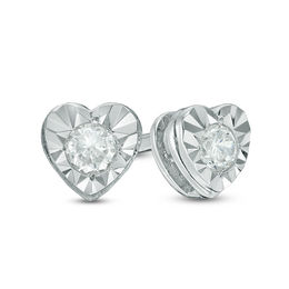 Zales 1/10 CT. T.w. Champagne Diamond Solitaire Stud Earrings in 14K White Gold BvF9BkfPr