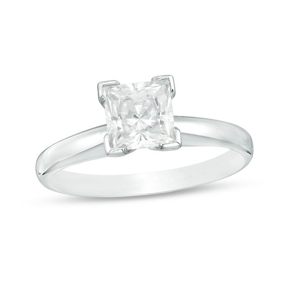 5Ct Princess Cut Diamond Vintage Solitaire Halo Ring White Gold Over