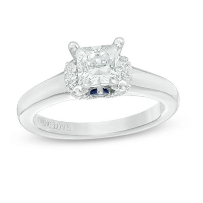 07451eb786aa78 ... Vera Wang Love Collection 1-1/10 CT. T.W. Princess-Cut Diamond