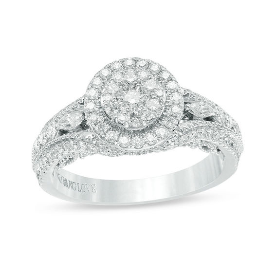 Vera Wang Love Collection 1 CT TW Composite Diamond Vintage Style