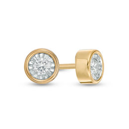 1/10 CT. T.W. Diamond Solitaire Stud Earrings in 10K Gold