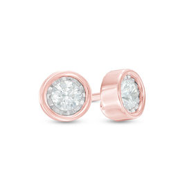 1/10 CT. T.W. Diamond Solitaire Stud Earrings in 10K Rose Gold