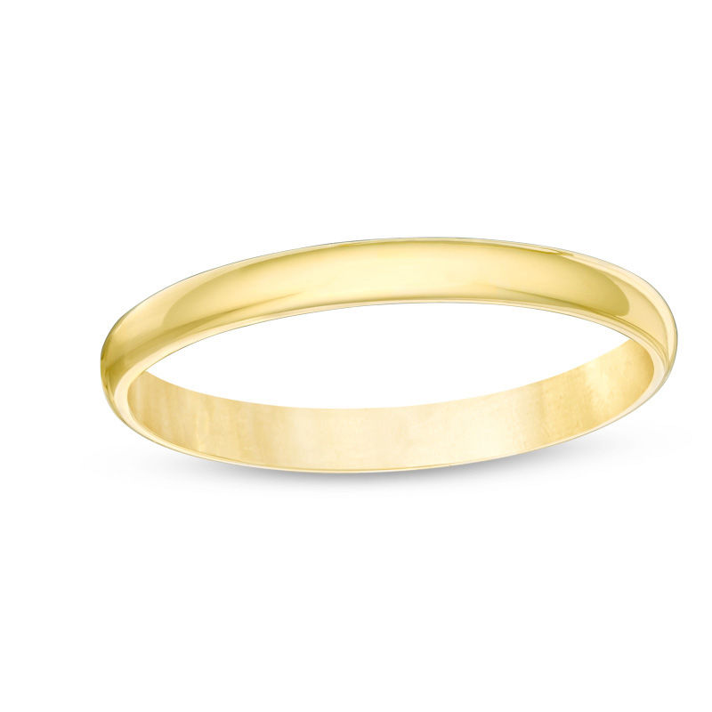 Zales Ladies 2.0mm Wedding Band in 10K Gold