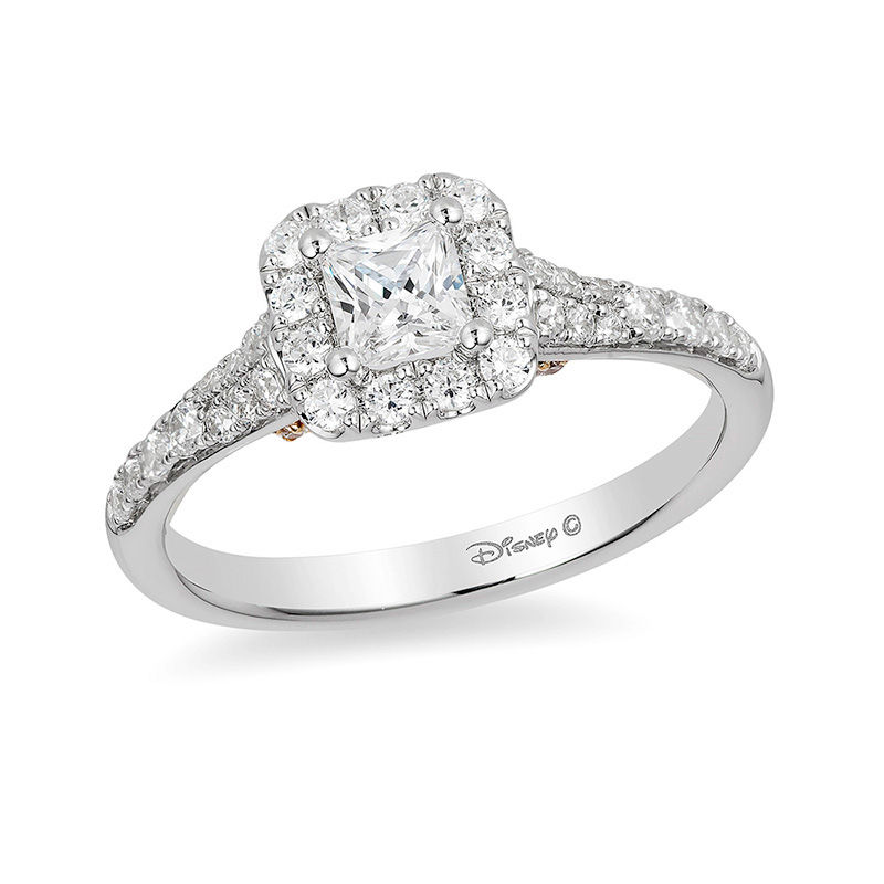 diamond princess rng baguette cinderella engagement ladies ring cut real white wedding gold rings