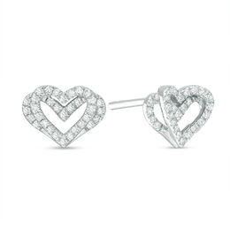 The Kindred Heart from Vera Wang Love Collection 1/6 CT. T.W. Diamond Mini Stud Earrings in Sterling Silver
