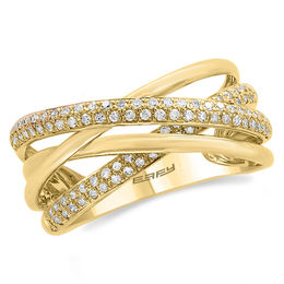 EFFY™ Collection 3/8 CT. T.W. Diamond Orbit-Style Ring in 14K Gold
