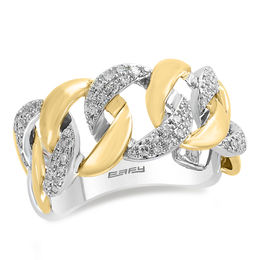 EFFY™ Collection 1/3 CT. T.W. Diamond Chain Link Ring in 14K Two-Tone Gold