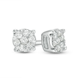 8bb4742f5 1/8 CT. T.W. Composite Diamond Stud Earrings in 10K White Gold
