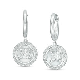 Magnificence™ 1/2 CT. T.W. Diamond Frame Drop Earrings in 10K White Gold