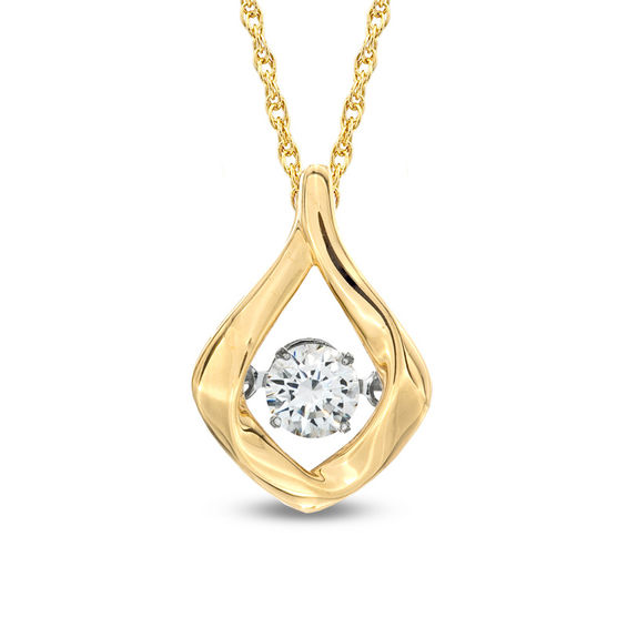 bd2a1534fca Previously Owned - Unstoppable Love™ 1 5 CT. Diamond Solitaire Flame Pendant  in 10K Gold